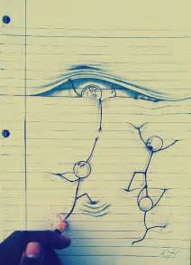 Cool Essays by Amazing Drawings On Lined Paper Xcitefun Net