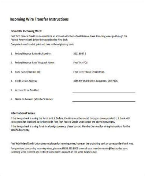 Wire Transfer Form Sles 7 Free Documents In Word Pdf Wire Transfer Template