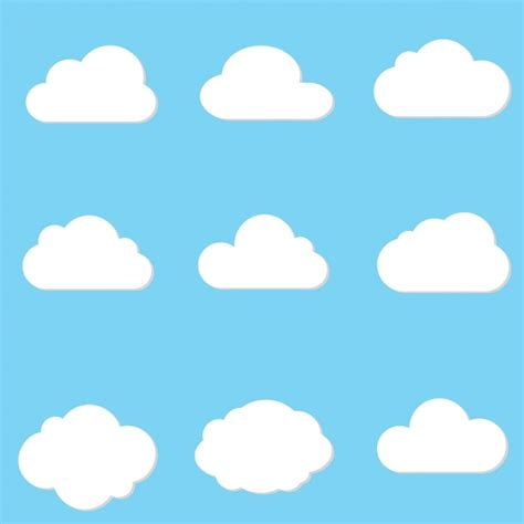 pattern psd cloud cloud designs collection vector free download