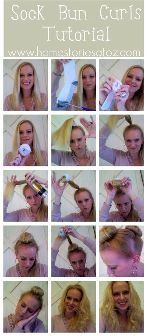 diy sock bun tutorial diy sock bun curl tutorial pictures photos and images