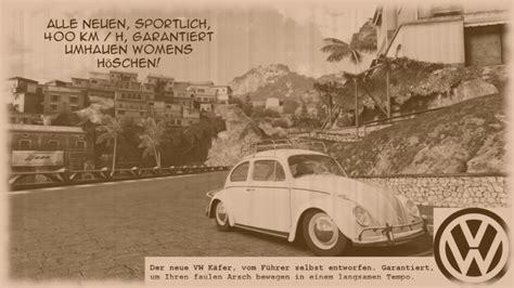 vw beetle advert harley flickr