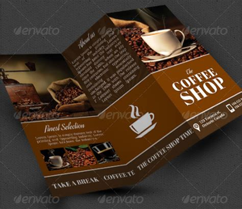 coffee shop brochure template 13 coffee shop brochure templates sle templates