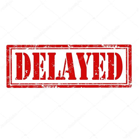 Will Be Delayed by Delayed St Stock Vector 169 Carmen Dorin 41376753