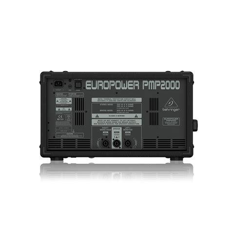 behringer europower pmp2000 powered mixer เพาเวอร ม กเซอร behringer europower pmp2000 powered mixer
