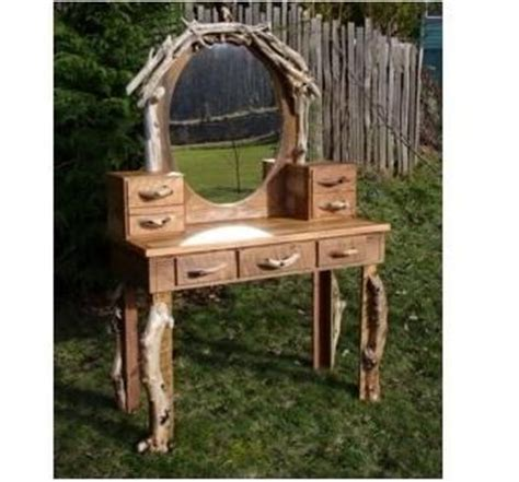 custom made vanity table crafted hobbit rustic dressing table vanity desk with