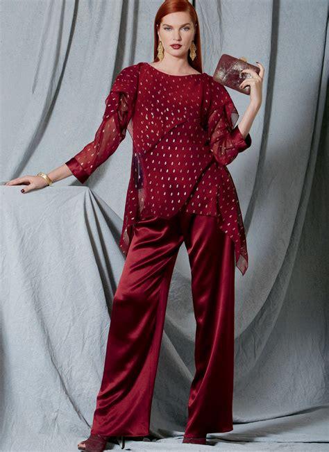 vogue patterns 9305 misses tunic and pants vogue patterns 9229 misses handkerchief hem tunics with