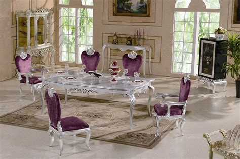 new luxury dining room furniture new classic dining room furnitures silver leaf gilding luxury dining set free shipping jpg