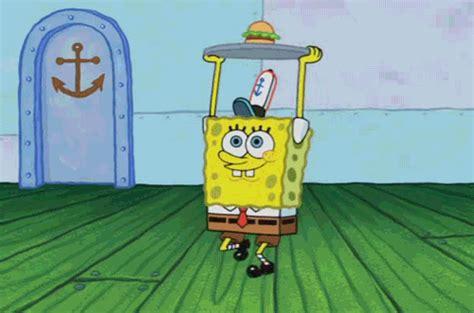 spongebob cuisine cartwheel food gif gifs krabby patty gif