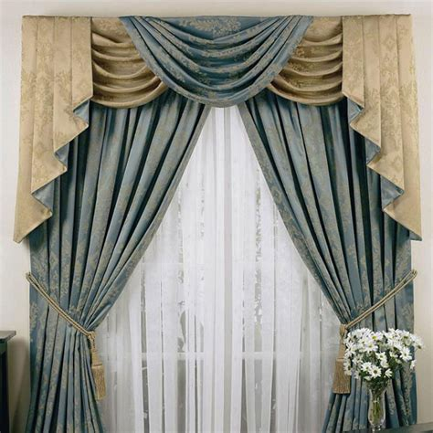 drapes and swags curtain valance and swags decorate the house with