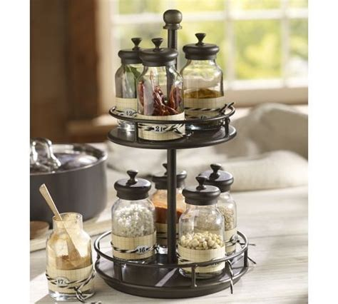 Upright Spice Rack Jars Kitchen Accessories And Pottery On