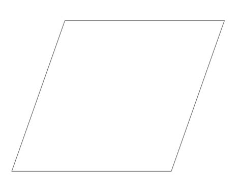 printable shapes rhombus free coloring pages of parallelogram trace
