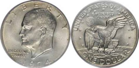 specifications eisenhower silver dollars 1974 eisenhower dollar values facts