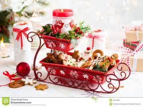 christmas table decoration stock photo image of gift