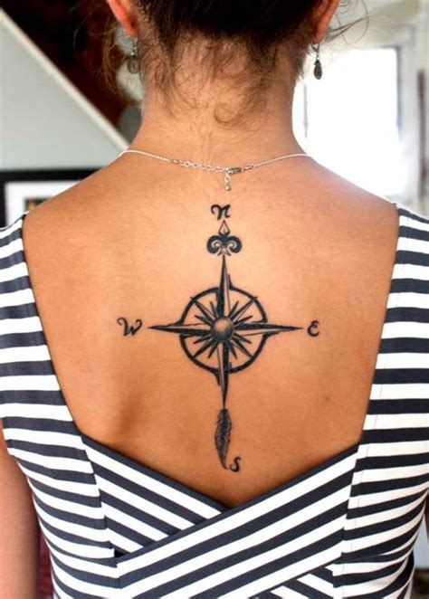 tattoo compass back 14 cool compass tattoo for girls