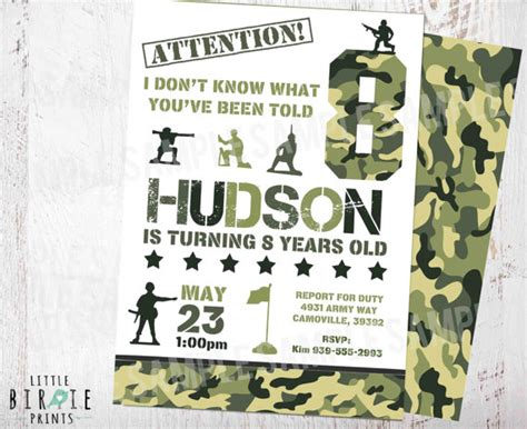Camo Invitation Camouflage Birthday Party Invitation Camo Invitation Templates