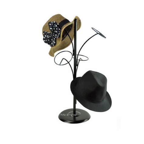 free shipping metal hat display stand black hat display