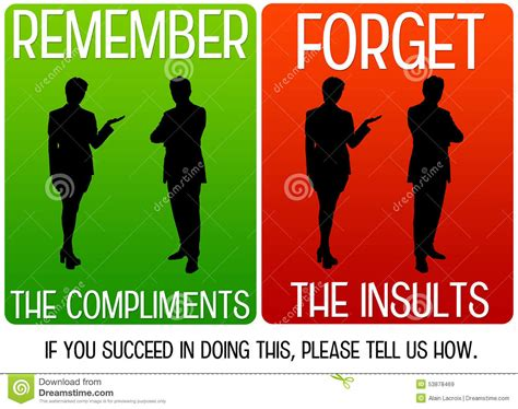 How To Compliment Or Insult A by Compliments And Insults Stock Illustration Image 53878469