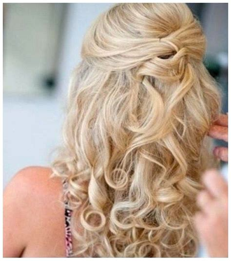 easy diy hairstyles for long curly hair curly prom hairstyles for long hair diy half up half