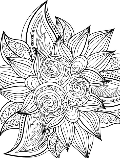 difficult pattern in c 10 free printable holiday adult coloring pages
