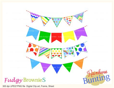 Sale Bunting Flag Hbd Colorful on sale rainbow bunting clip flag banners scrapbooking bunting bunting 6 bright color