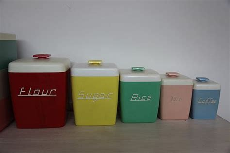 colorful kitchen canisters colorful kitchen vintage canisters vintage retro