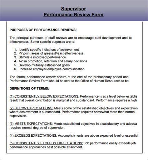 supervisor evaluation 9 download documents in pdf