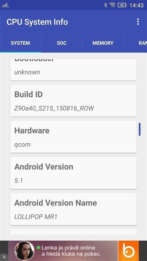 cpu info jak zjistit všechny potřebn 233 informace o vašem androidu