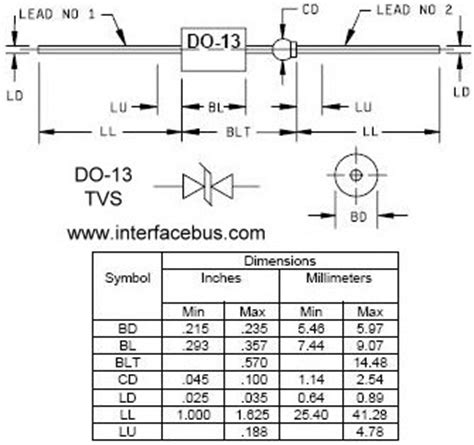 power diode packages diode packages do 13 axial lead style drawing and definition
