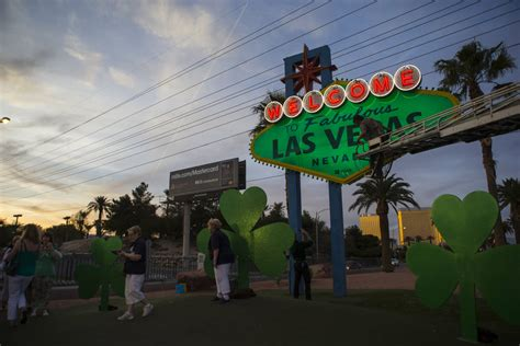what is happening in vegas february 28 march 4 welcome to fabulous las vegas sign goes green for st