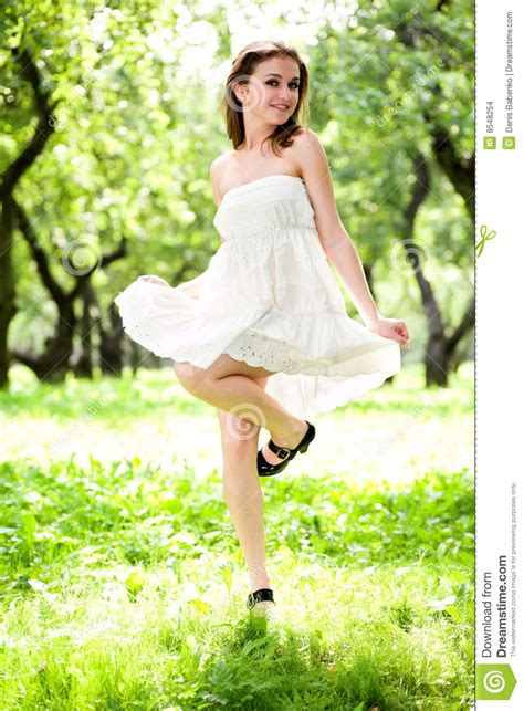 Dress Smile White smile in white dress stock images image 8548254
