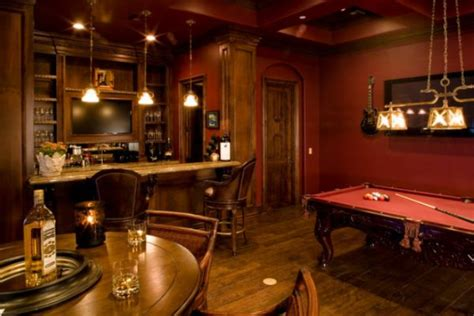 a few decor ideas and suggestions for your billiards room - Room Bar Decor