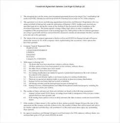 Investor Contract Agreement Template investment agreement template 13 free word pdf documents download