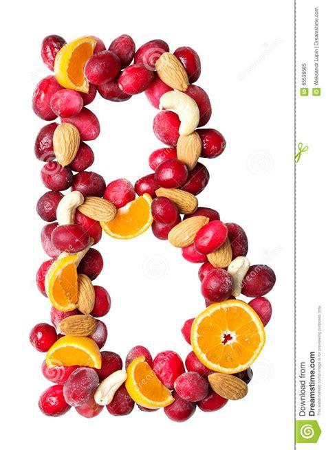 b fruity lettre b de fruit image stock image du juteux symbole