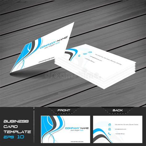business card template two addresses business card or visiting card template stock vector