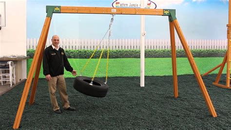 swing builder wooden a frame swing sets youtube