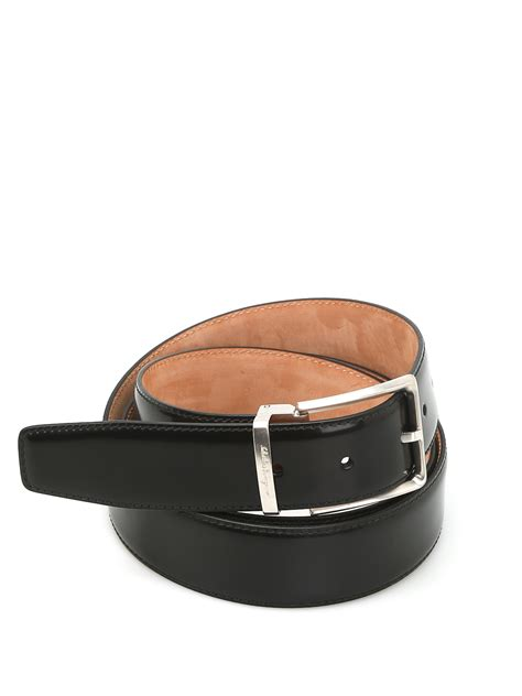 Salvatore Ferragamo Leather salvatore ferragamo brushed leather belt belts