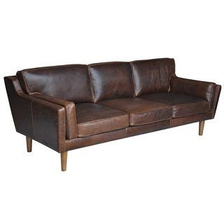 Beatnik Leather Sofa Columbus Chocolate By I Love Living
