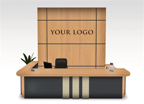 modern office furniture reception desk second marketplace modern reception desk set