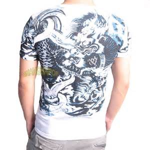 sell amart dragon tattoo round neck long sleeve t shirt mens dragon tattoo t shirt floral tee top graphic peony