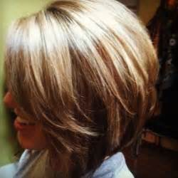 chuncky bob hair cuts inverted bob with bangs and chunky high lights short