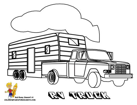 Truck And Trailer Coloring Pages truck pulling trailer coloring pages coloring pages