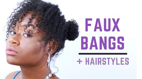 loc style tutorial 8 faux bangs styles youtube curly bangs and high bun natural hair youtube faux bangs