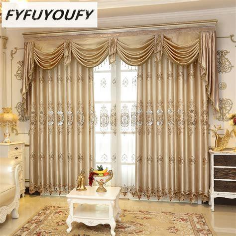 Europea Luxury Elegant Blackout Curtain Window Blinds Luxury Kitchen Curtains