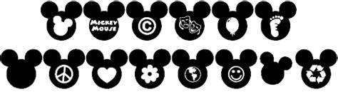 mickey mouse font commercial use mickey ears extra font by gorillablu fontspace