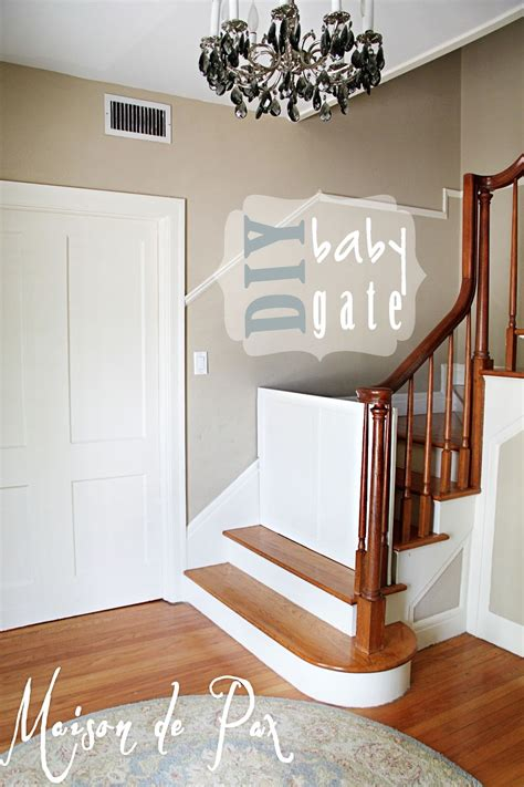 Child Gate For Stairs With Banister Diy Classy Baby Gate Maison De Pax