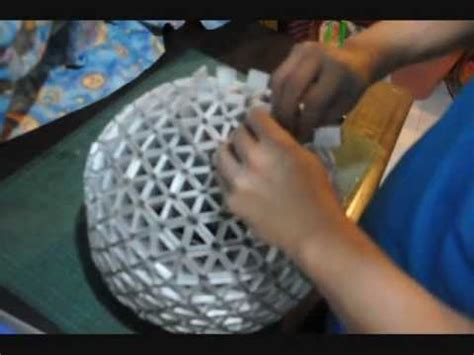 papierle selber basteln 3277 how to make your own spherical tetral shade part 2 of