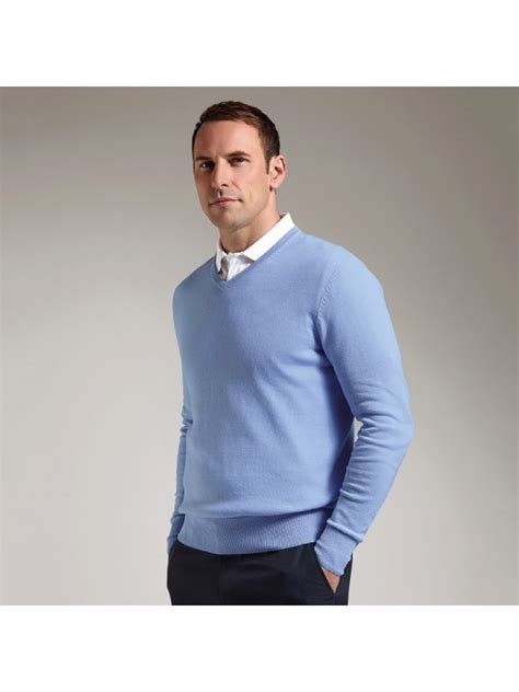 Plain V Neck Sweater plain cotton v neck sweater glenmuir1891 12 gsm