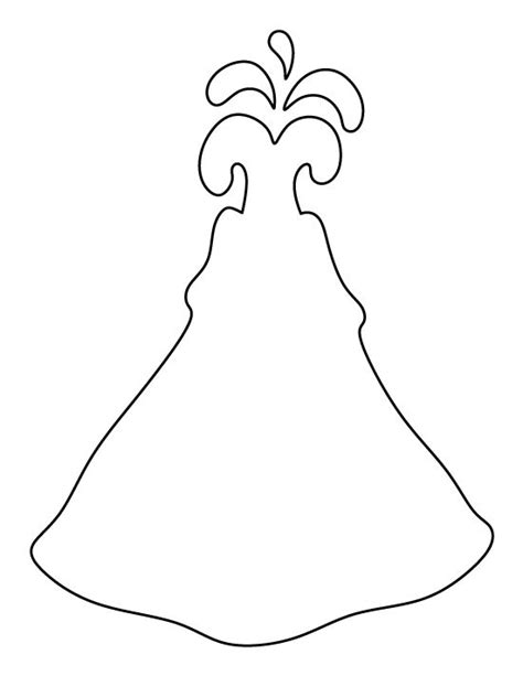 printable volcano template volcano pattern use the printable outline for crafts