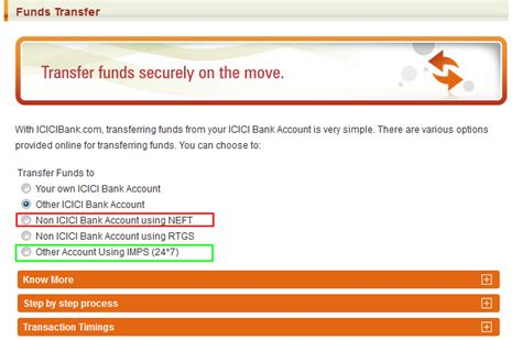 transfer icici bank difference between neft and rtgs or imps interbank fund
