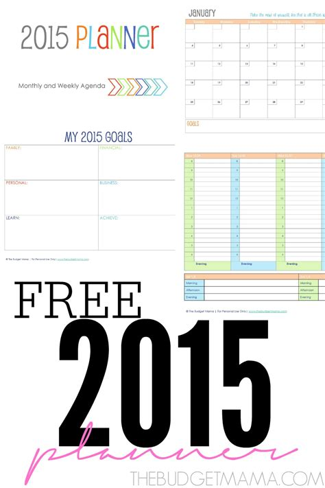 free printable planner for 2015 free 2015 planner printables